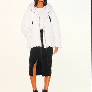 FREE People White Hailey Puffer Hooded Jacket ~Med